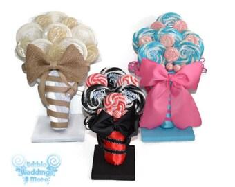 Lollipop Bouquet Stand, Candy Bouquet Stand, Lollipop Bouquet display, Customizable