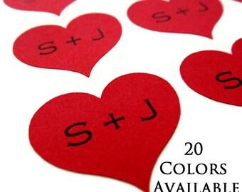 """Wedding Sticker - Initial Sticker - Heart Sticker - Wedding Favor Sticker - Personalized Wedding Sticker - Envelope Seal - 1.16"""" - 60 Count"""