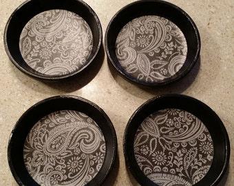 Contemporary Black Drink Coasters