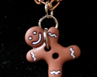 Gingerbread Man Necklace-Christmas Theme
