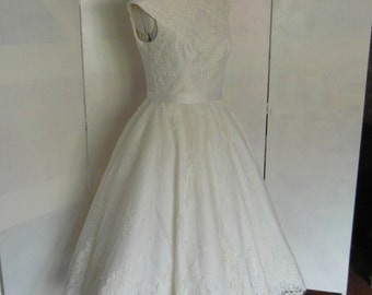 Lola-Rose Lace Tea length wedding dress