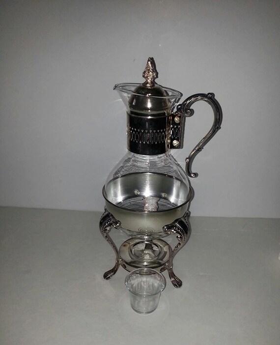 Coffee Pot Warmer Electric : Vintage Silverplated Tea Coffee Pot Carafe Warmer by RosiesHut