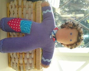 Hand made Pipsqueak Patchie rag doll Rupert