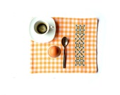Garden breakfast, placemat for breakfast, little rustic placemat - VereV