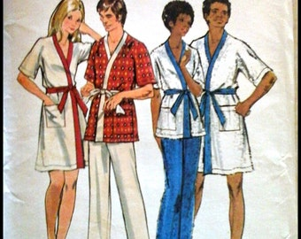 Butterick 6475  Misses' & Men's Robe And Pants  Size Small (6-8)  UNCUT