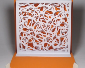 Abstract  diorama pop-up card, home made
