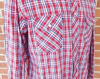 Vintage Long Sleeve Western Snap Shirt by Rustler