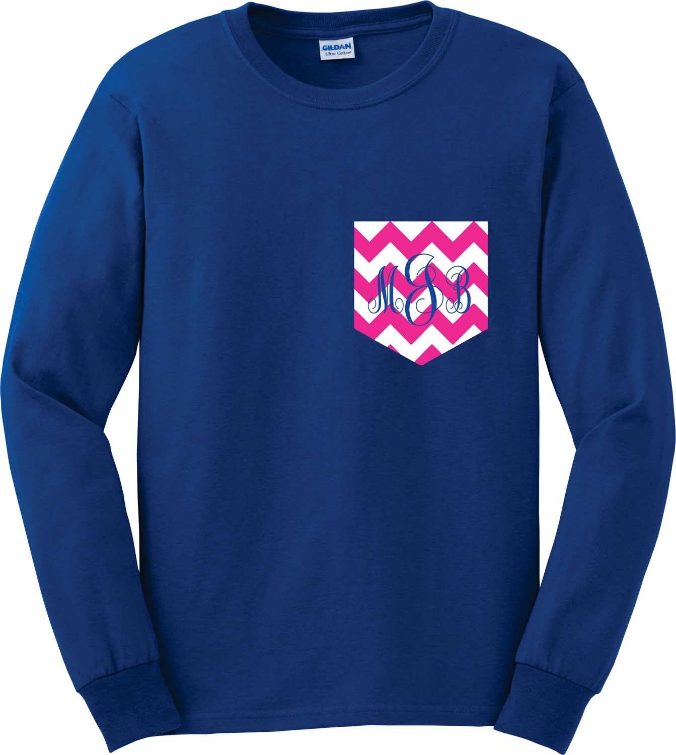 Design your own t-shirt long sleeve -  Monogram Longsleeve Shirt Personalized Teen Girl Gifts Monogram Pocket Tee Chevron Pocket T Shirt Tshirt Monogram Zoom