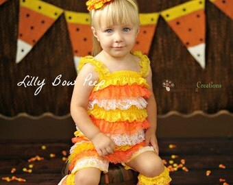 Petti romper baby girl clothes halloween costume fall outfit dress up