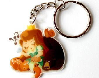 Cute Princess Keychain or Cute Princess Phone Charm