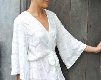 stunning lace kimono robe wedding robe bridal robe