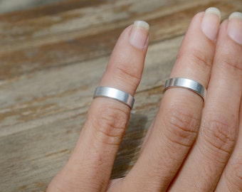 SALE Silver Wide Band Rings, Above Knuckle Ring Set Handmade Boho Hippie Jewelry