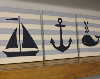 Nautical Nursery Wall Decor nautical nursery wall decor nursery paintings sailboat