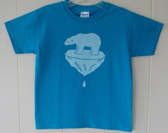 Polar Bear on Ice T shirts for Children Kids