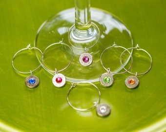 Bullet Casing Jewelry - Bullet Wine Charms / Rings