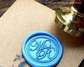 1pcs Custom Initial Gold Plated Wax Seal Stamp (WS138)