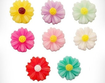 Floating Flower Locket Charm - Locket Flower Charm - Memory Locket