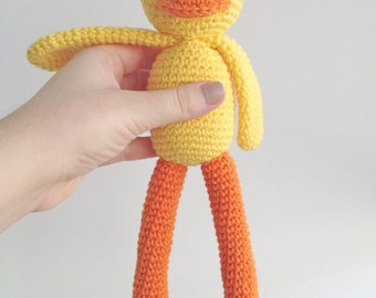 Chick Plush, Chick Stuffed Animal, Chick Plushie, Chick Stuffed Toy, Crochet Chick, Duck Plush