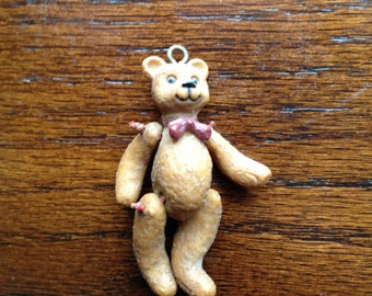 Vintage Hanging Teddy Bear with Moveable Limbs