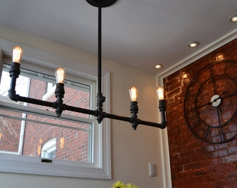 Industrial Light - Steampunk Chandelier - Industrial Chandelier - Modern Chandelier - Steel Chandelier - Bar Light - Ceiling Light - Light