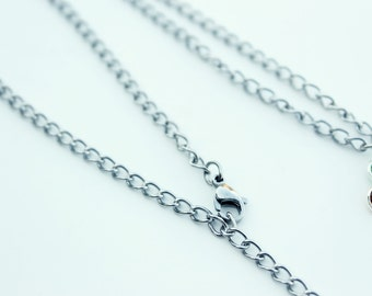 Necklace chain upgrade - 24 inch can adjust as short as needed with lobster clasp