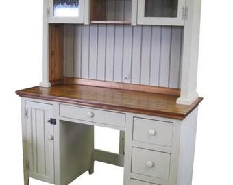 Country Desk w/Hutch Top