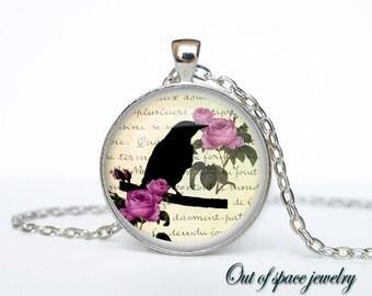 Black crown  necklace Black crown pendant Black crown jewelry gothic steampunk crown