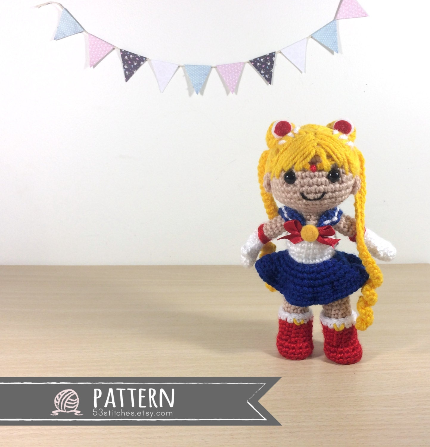 Amigurumi Moon Pattern : Sailor Moon Amigurumi Crochet Doll Pattern