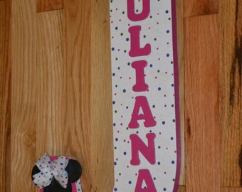 minnie mouse polkadots theme very large 18 inch wooden letter