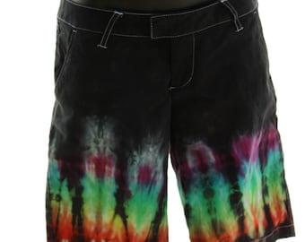 Tie Dye Shorts, size 3, Skater, Rainbow, Trippy, Hippie Capris