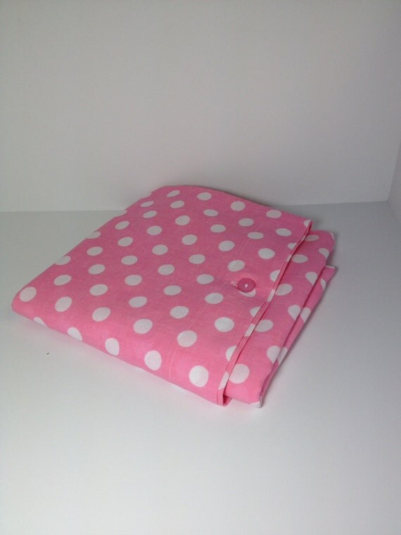 Pink And White Polka Dot Toddler Crib Duvet Comforter Cover