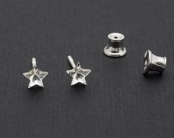 Tiny Swarovski Star Earrings Star Stud Earrings Crystal Earrings Swarovski Studs Sterling Silver Earrings Post Earrings Swarovski Jewelry