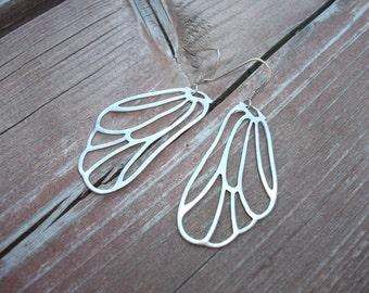 Butterfly wing earrings gold or silver