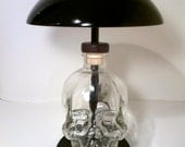 Skull liquor,alcohol, vodka, Bottle Touch Lamp, light
