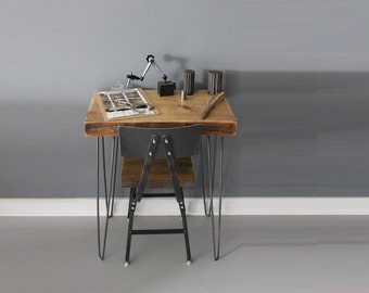 Desk, Reclaimed Wood and Hairpin Legs, Work Space, Reclaimed Furniture, Reclaimed Barn Wood