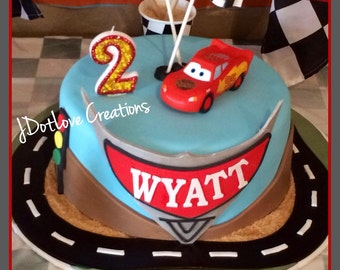 Cars Inspired Birthday Candle - You choose the number