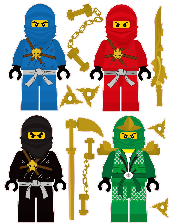 Lego Ninjago Wall Stickers Lego Ninjago 4 Ninjas Amovible Wall Stickers Sertie Armes