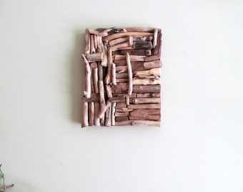 Mosaic Driftwood Wall Art, Beach Home Decor, Coastal Wall Art, Driftwood Wall Hanging Art, Driftwood Home Decor,