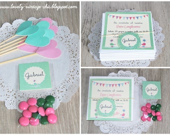 Birthday custom invite+ tag ,card baby shower and party invitation