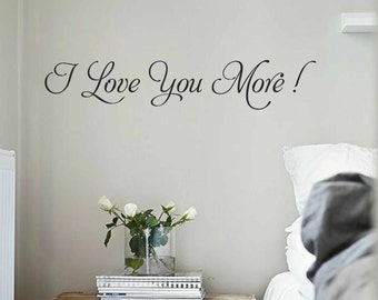 Love You More Wall Art love you more decal | etsy