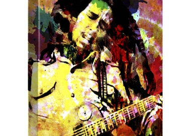 Bob Marley Art, Marley Original Painting, Canvas Art Print