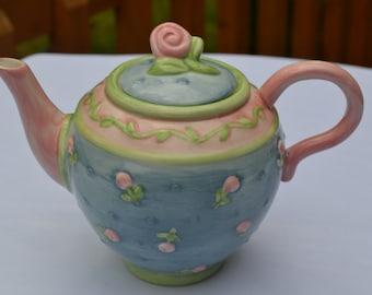 Colorful Debbie Mumm Teapot, Sakura China