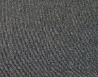 SALE! BTY Superfine Worsted Wool Black & Grey Suiting Fabric Selvedged Wool Britex Fabrics