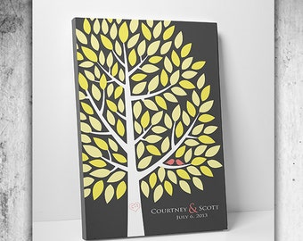 Custom Wedding Guest Book // Rustic Wedding Guest Book Alternative // Wedding Tree Guestbook // fits 55-150 Guests // 16x20 Inches