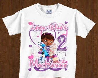 Doc Mcstuffins Birthday Shirt  Iron On Images Printable , Look Who's- Style 8 -YOU PRINT