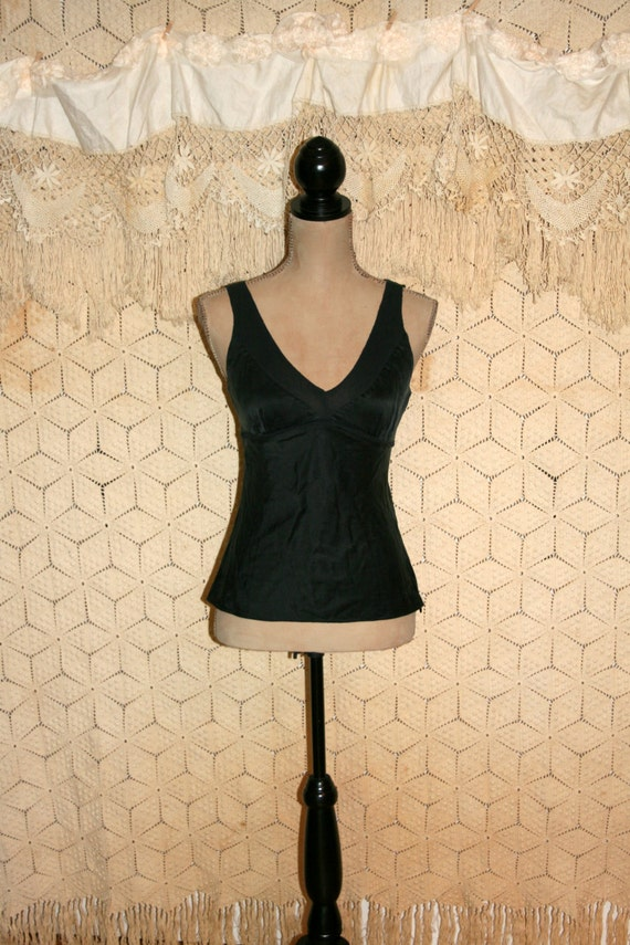 Black Fitted Silk Blouse 103
