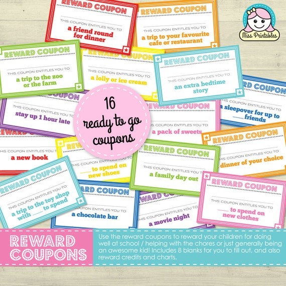 Children's reward coupons