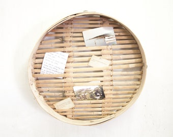 Chinese Bamboo Sieve as Inspiration Board