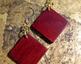 Bloodwood Earrings