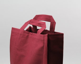 The Market Bag // Burgundy UNWAXED Reusable Canvas Shopping Bag, eco-friendly and stylish